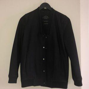 All Saints Wool Varsity Bomber Jacket
